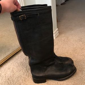 Ash Shoes - Ash Scott Leather Distressed Riding Boots